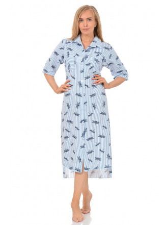 Халат-рубашка Стрекоза № 8385
