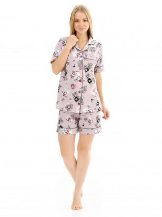 Пижама кулирка  шорты Parfum № 1075-8