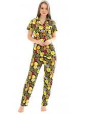 Пижама кулирка Лимон оранж брюки   № 1055-12