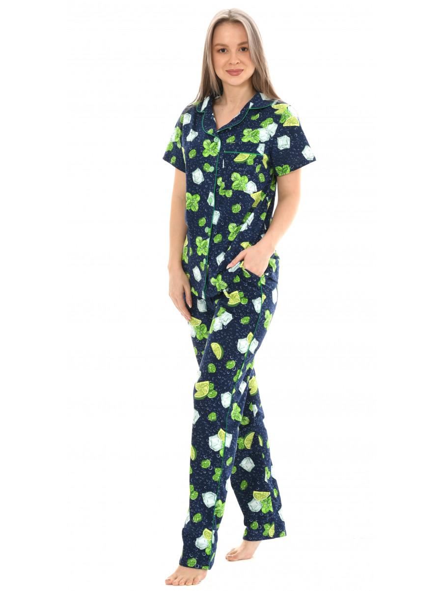 Пижама кулирка брюки № 1055-15