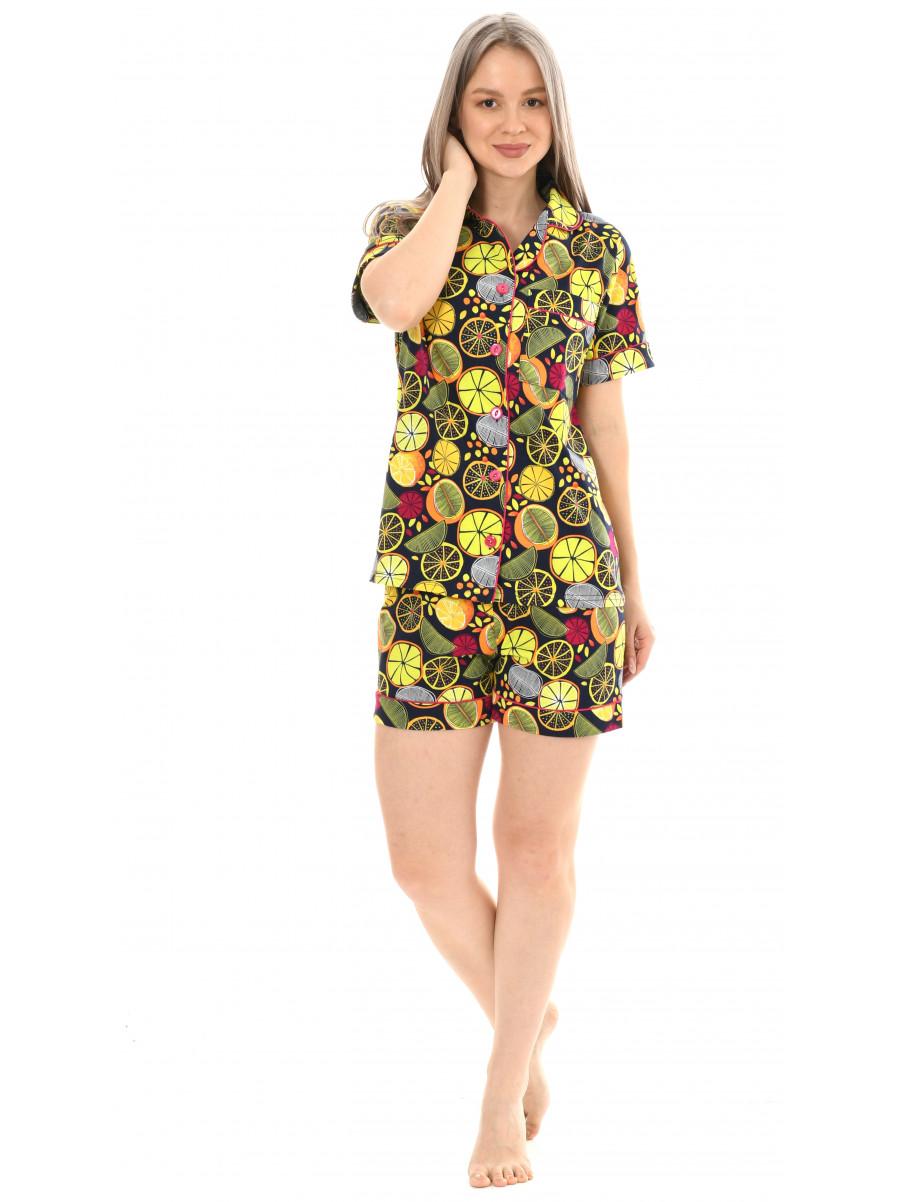 Пижама кулирка  шорты  № 1075-12