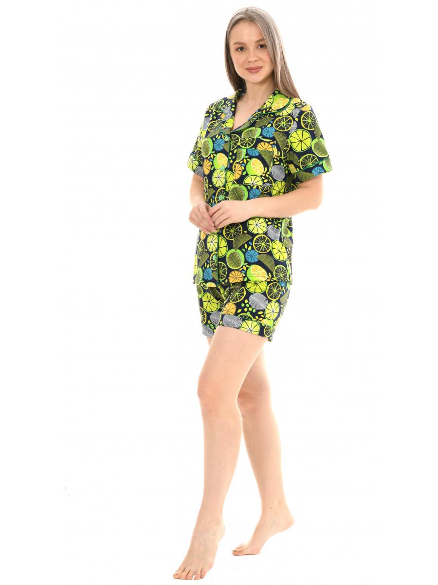 Пижама кулирка  шорты  № 1075-13