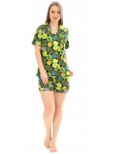 Пижама кулирка  шорты Лимон ментол  № 1075-13
