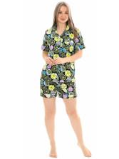 Пижама кулирка  шорты Лимон фиолет голуб.  № 1075-14