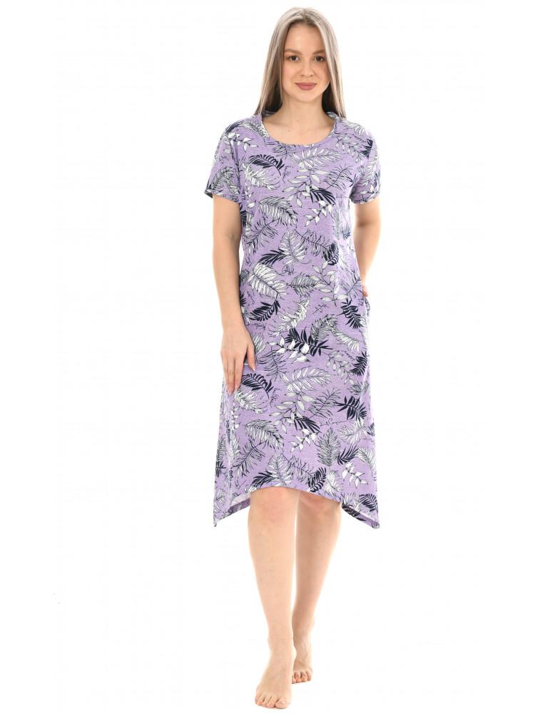 Платье кулирка Лён ментоловый № 3019