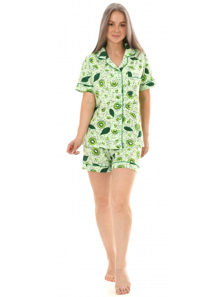Пижама кулирка  шорты  № 1075-16