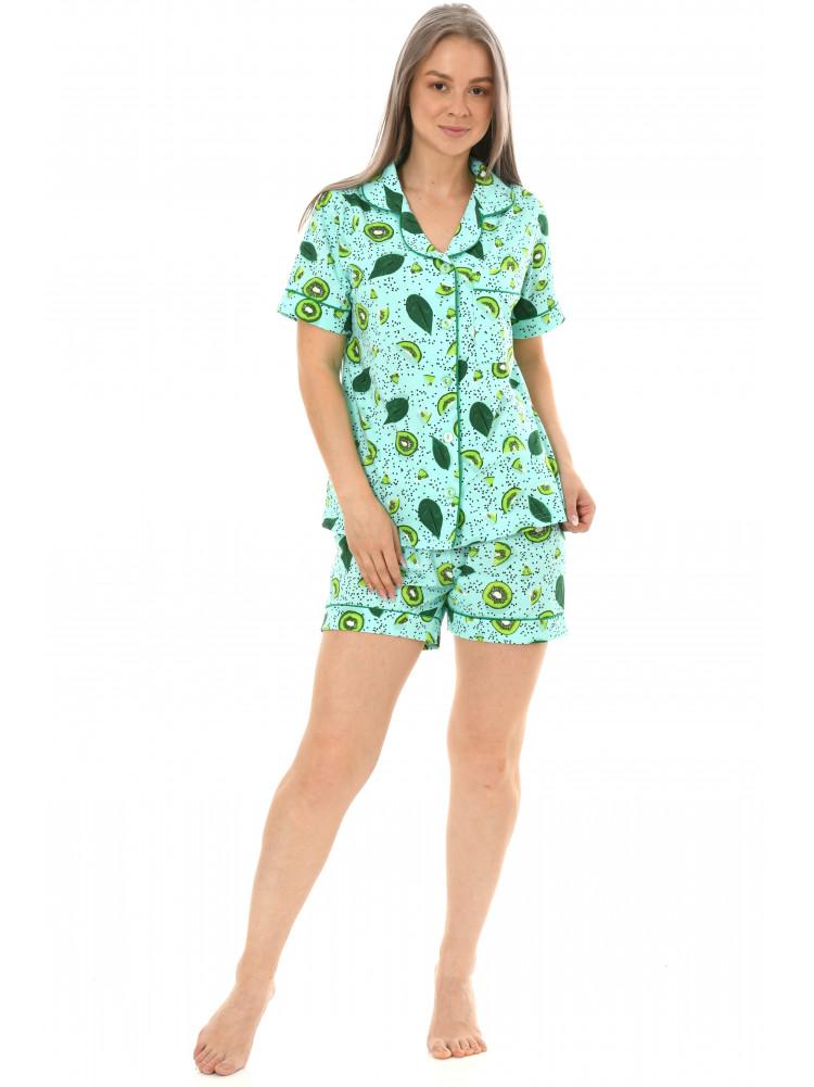 Пижама кулирка  шорты  № 1075-17