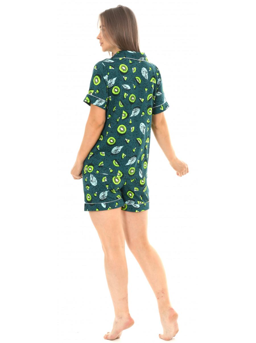 Пижама кулирка  шорты  № 1075-18