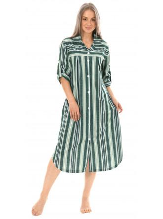 Халат-рубашка зелен№ 8441-8