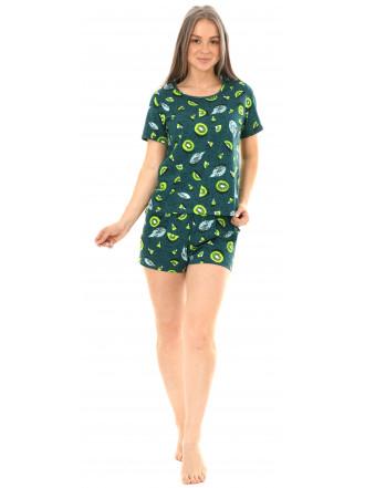 Комплект кулирка  Киви изумруд (футболка, шорты) № 0047-3