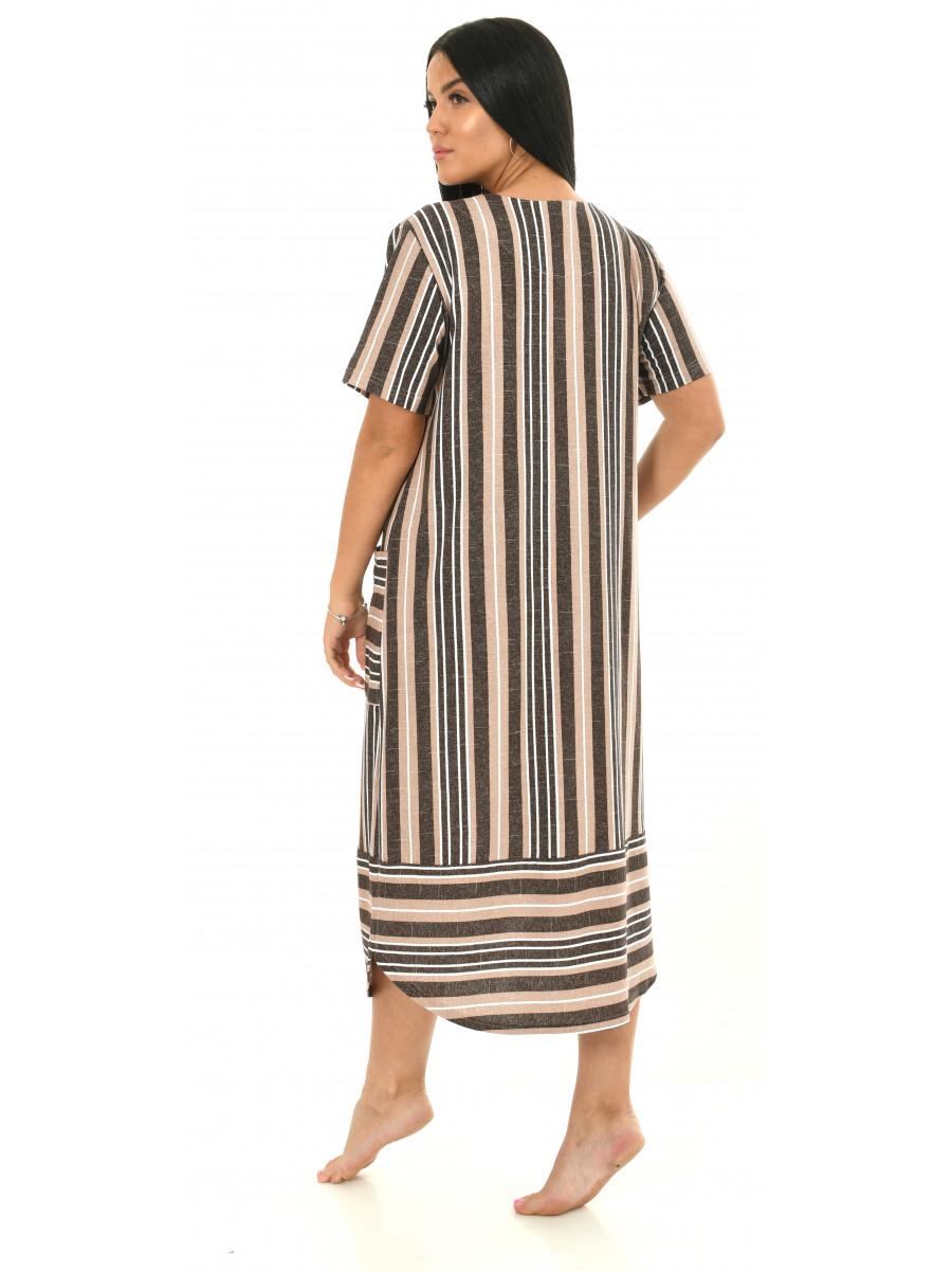 Платье кулирка полоса № 4080-2