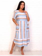 Платье кулирка полоса гол беж № 4080-6