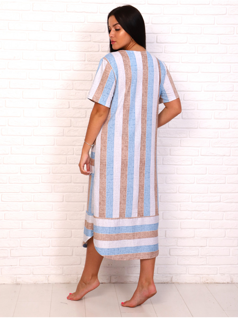 Платье кулирка полоса гол беж№ 4080-6
